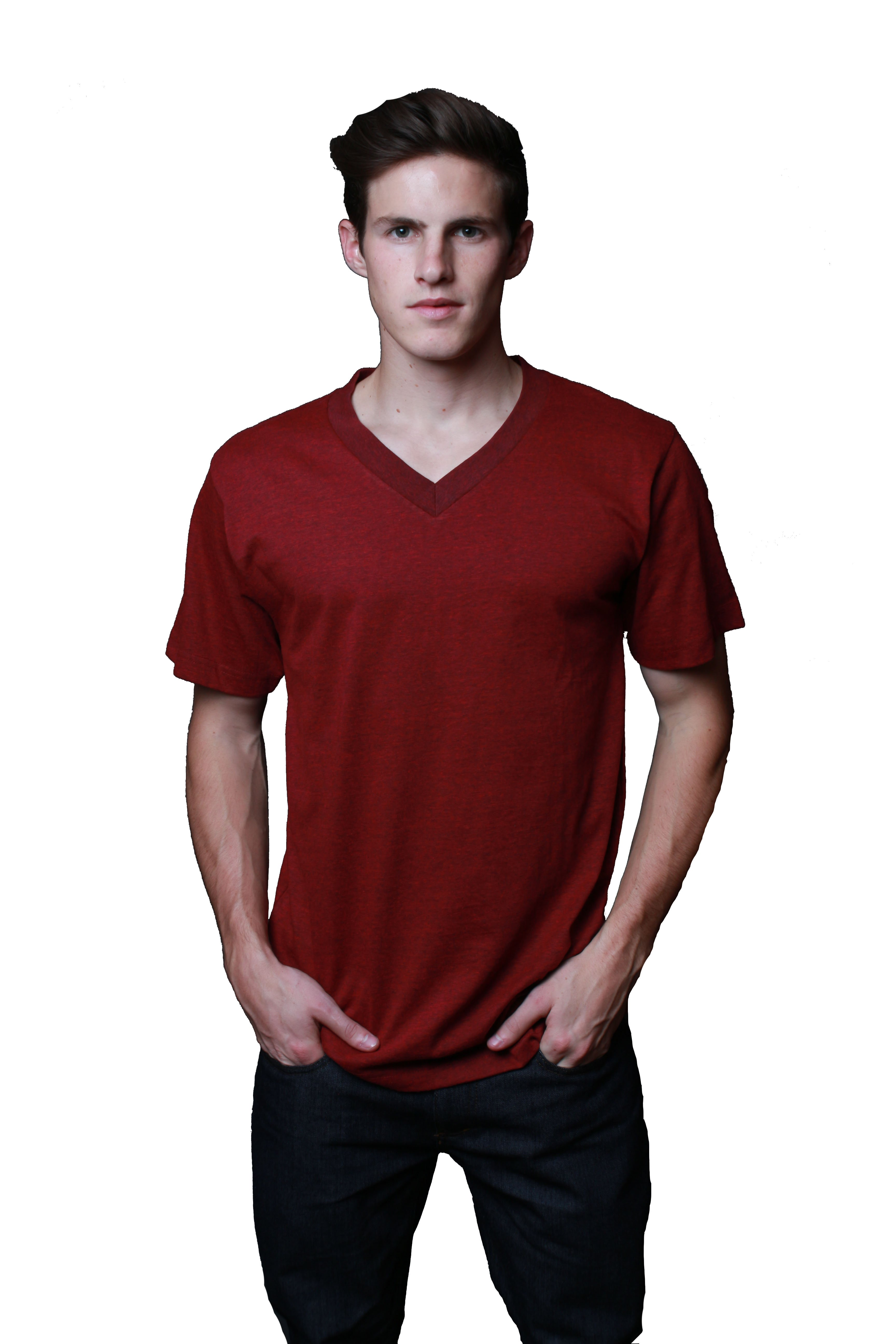 529ab99d Men's Premium 32-Single V-Neck T-Shirt - MTSV13156 - A.M.S