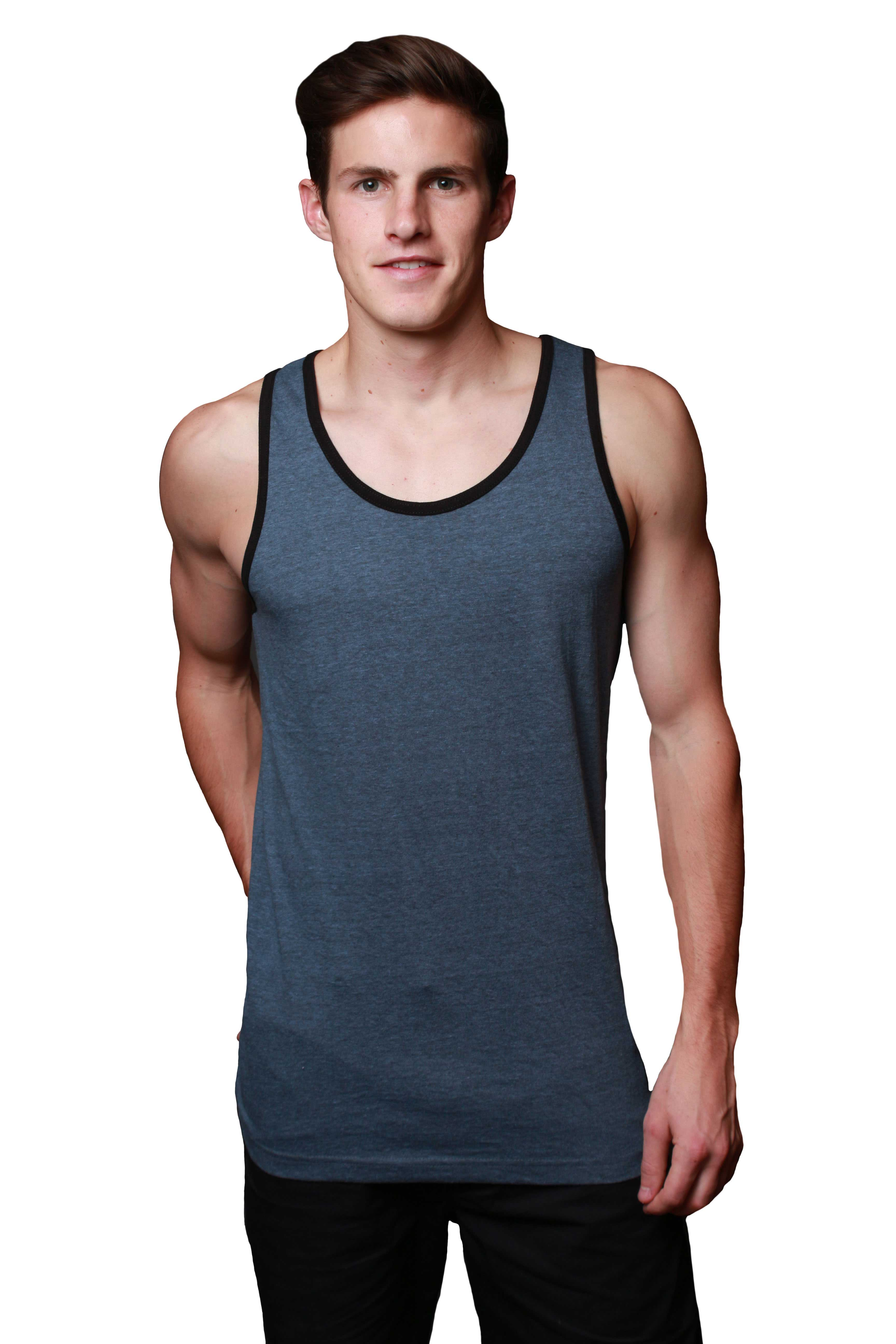 dcd763c5 Men's Premium 32-Single Classic Tank-Top with Contrast Binding – MTT13152
