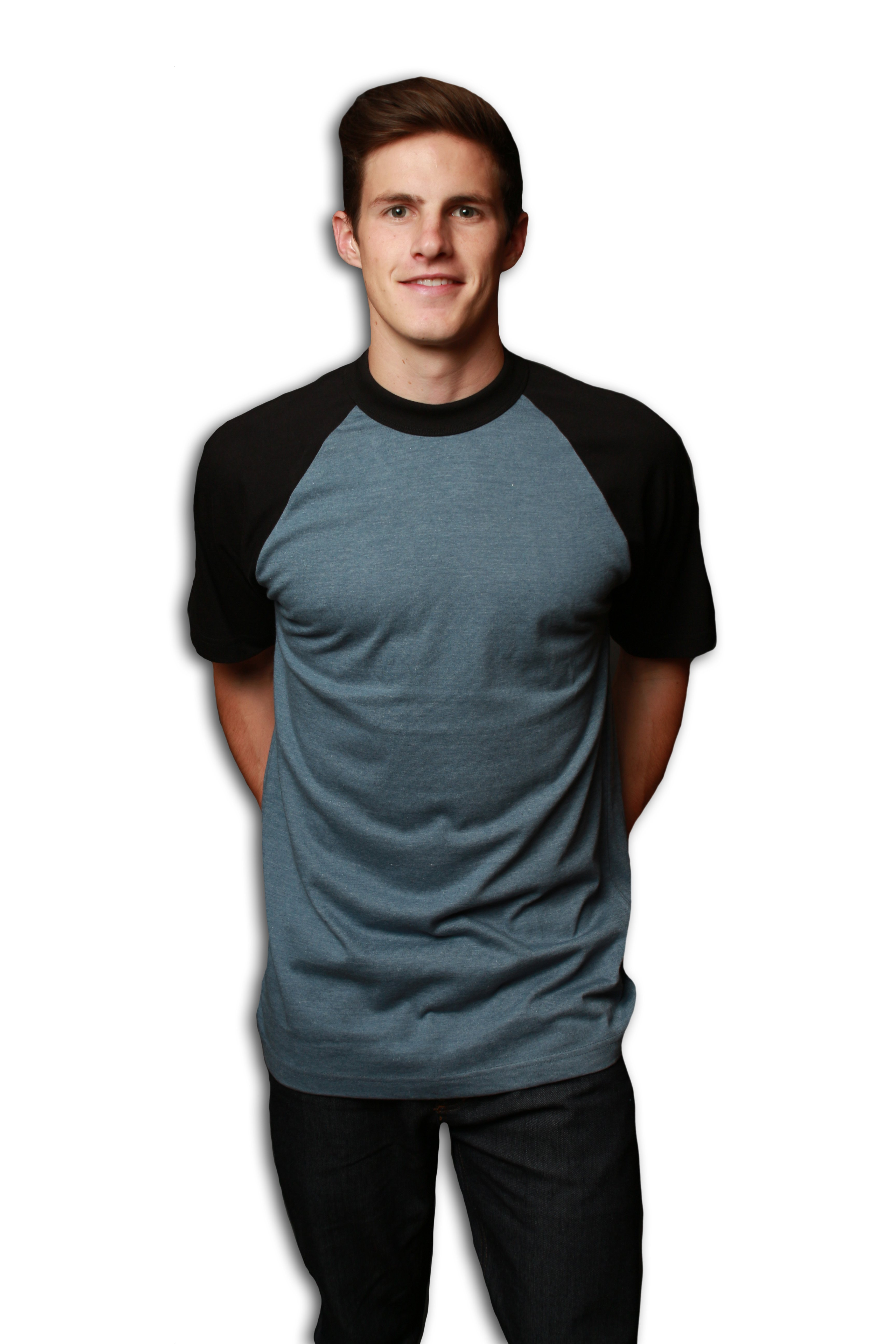 0a63ddf1 Men's Premium 32-Single Contrast Raglan Sleeve T-Shirt - MTSC13158 ...