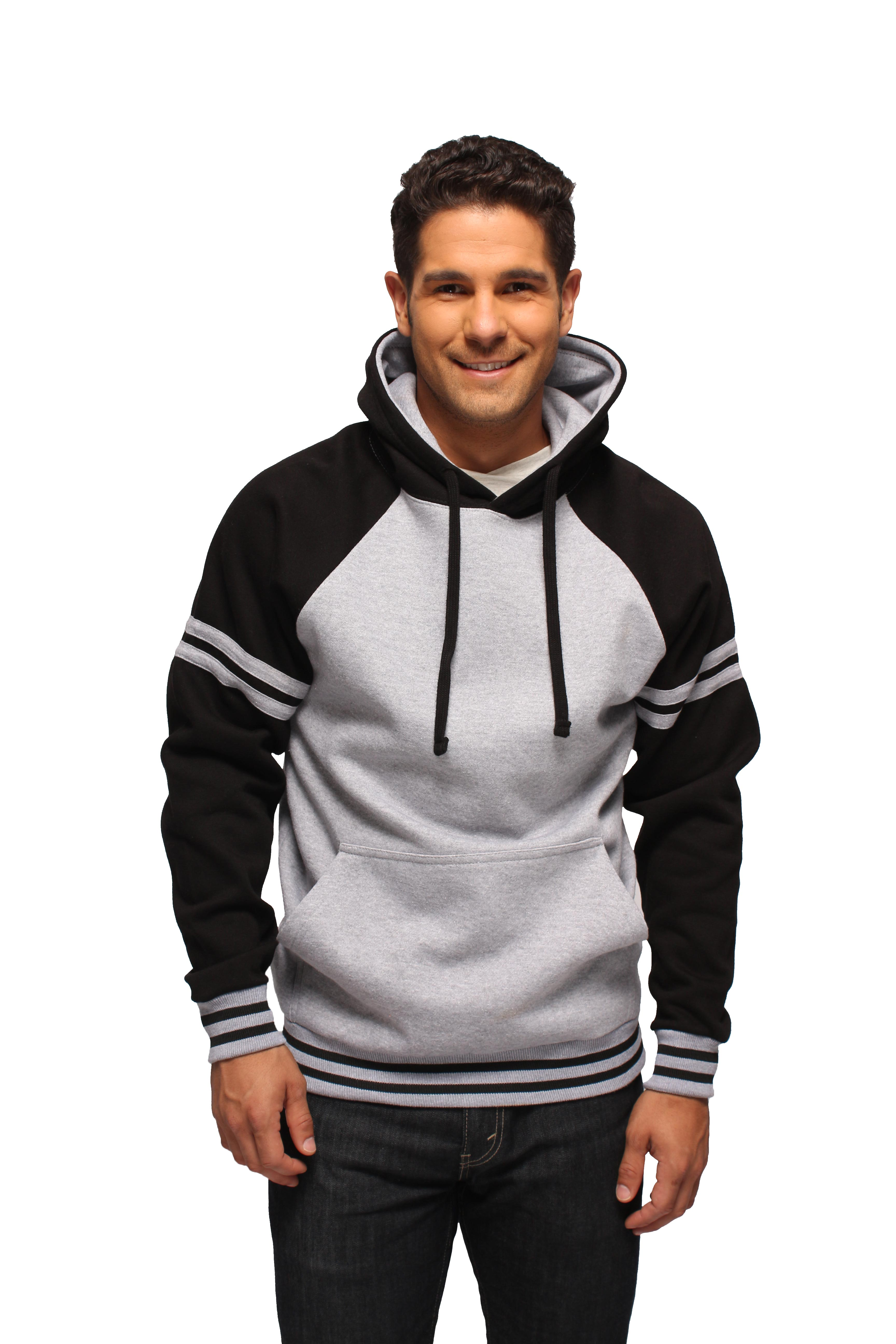 63946e3c5 Contrast Raglan Sleeve With Stripes Pullover Hoodies - MH13115 - A.M.S