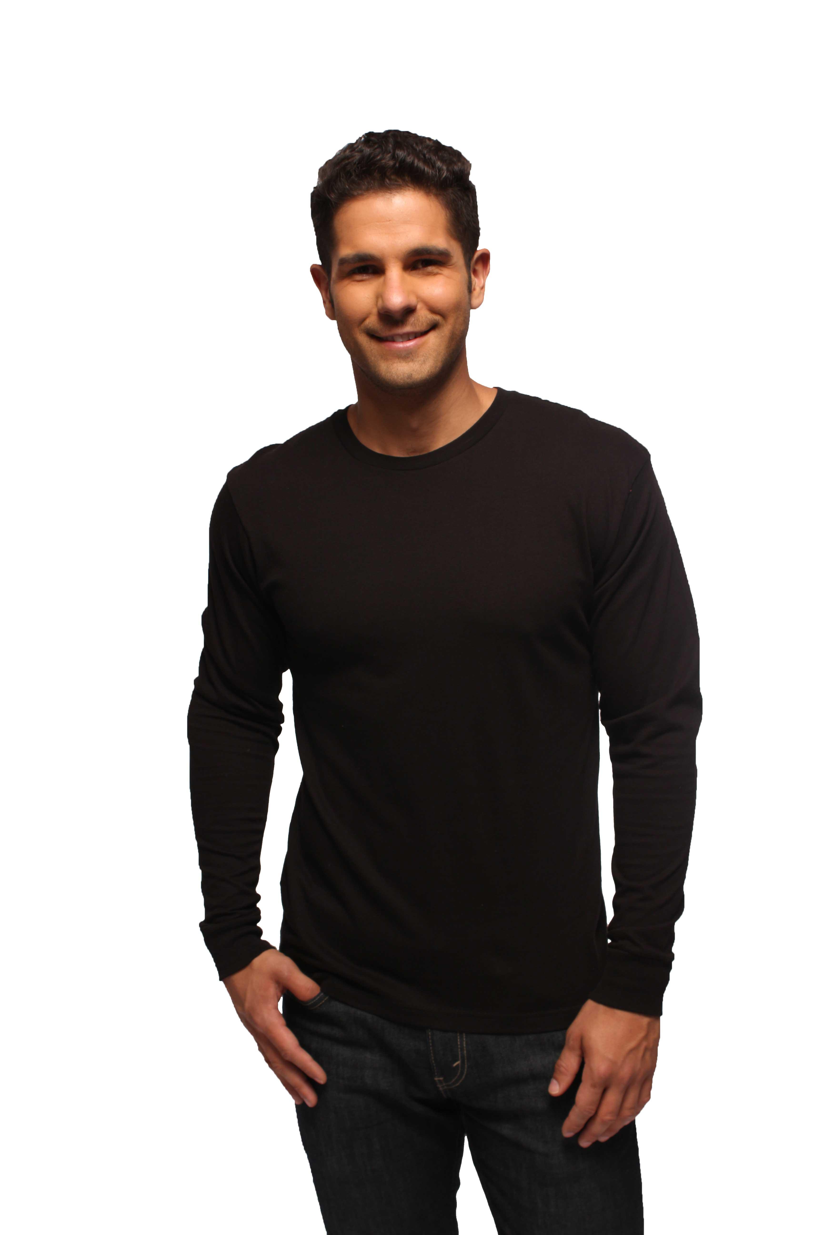 Black Long Sleeve T Shirt Mens